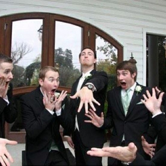 The groom's wedding pictures are always 300% funnier than the bride's! Haha!
