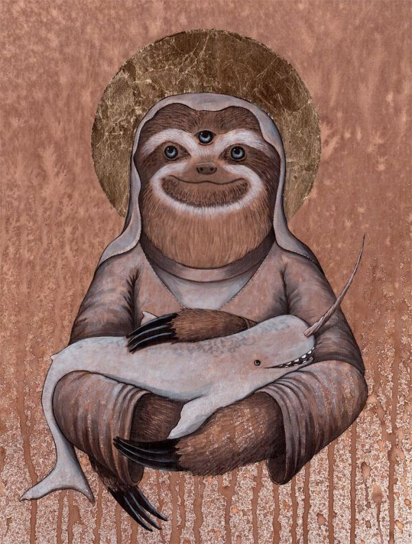 The Holy Sloth and Other Mystical Animals by Shwa Keirstead - Neatorama