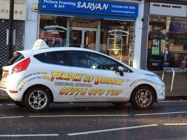 Best Punny Business Names Images On Pinterest - Car signs and names