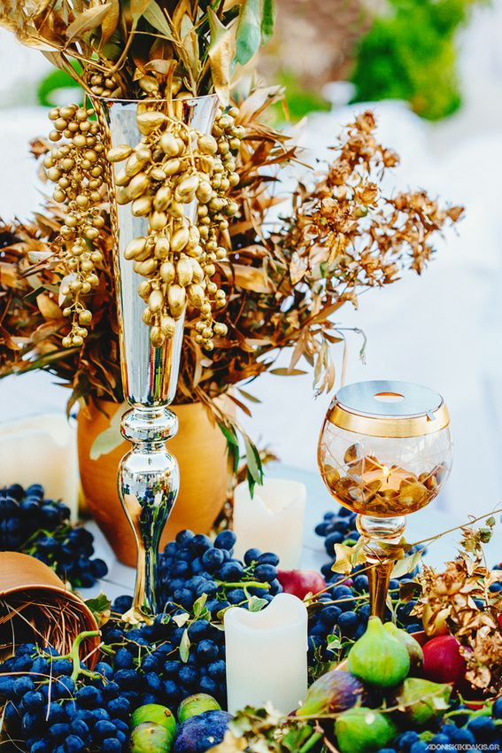 mykonos weddings, dream weddings mykonos, wedding table centerpiece, ancient Greek theme