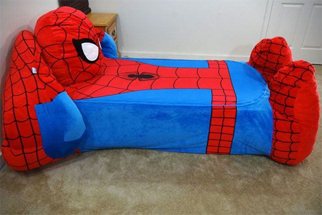 Your friendly neighborhood Spider-Man is swinging by to make sure you get a great night's sleep on the Spider-Man bed. Apart from keeping the streets safe, he'll also ensure you get the comfort you deserve on this uniquely styled twin bed. Buy It $205.51 via Amazon.com