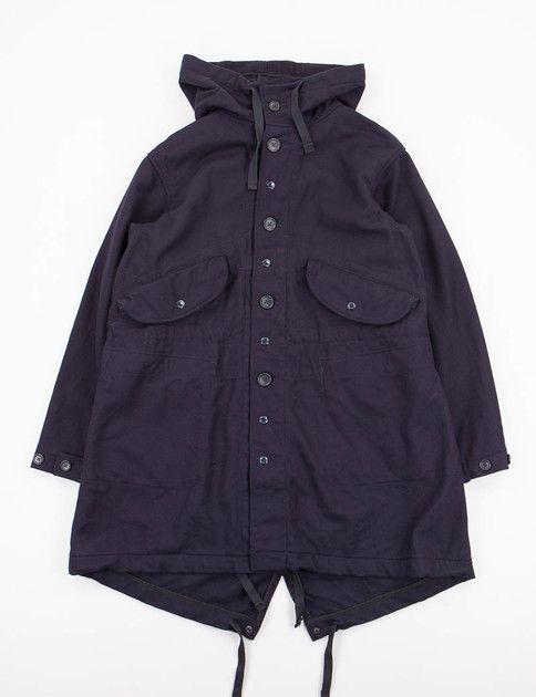 Engineered Garments Dark Navy 20oz Melton Highland Parka