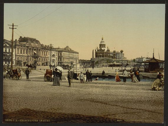 The quay Helsingfors Russia i.e. Helsinki by vintagephotograph
