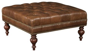 Hooker Furniture Seven Seas Square Cocktail Ottoman in Tiandi Tuose transitional-ottomans-and-cubes