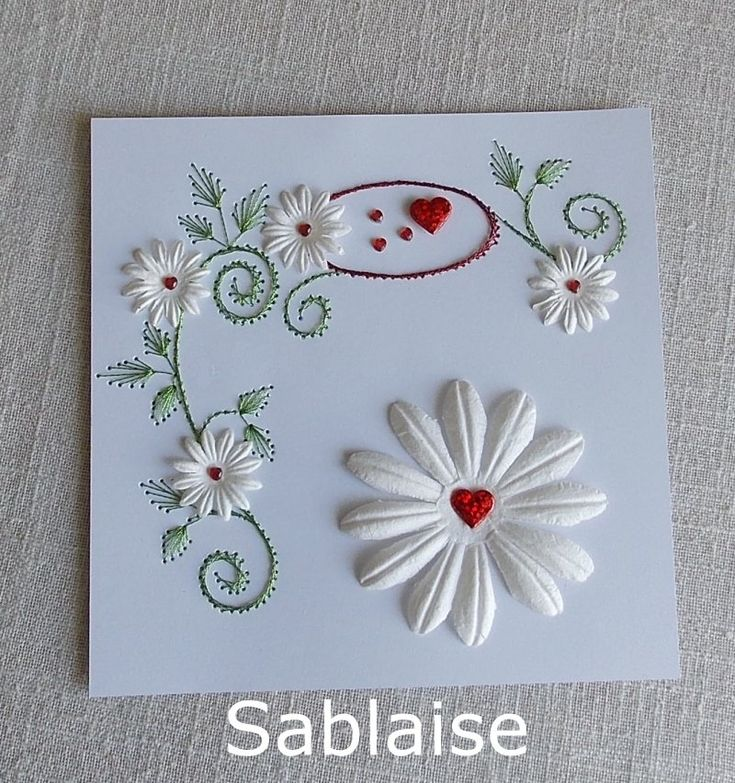 361 Best Embroidery Cards Images On Pinterest String Art