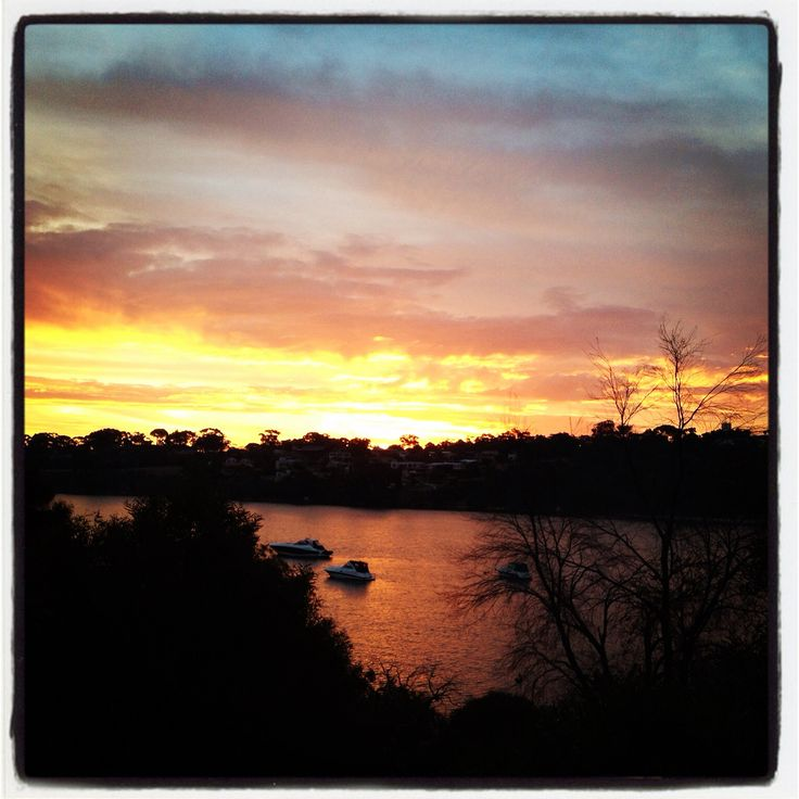 Sunset over Blackwall Reach!