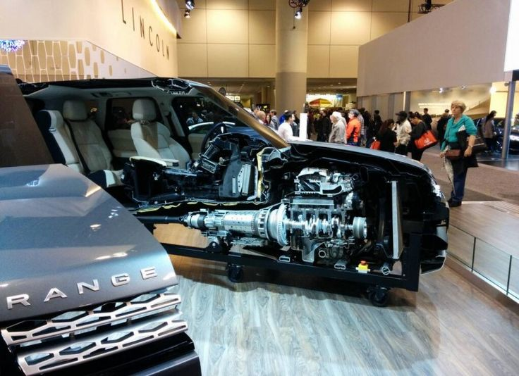 LandRover has been showing off this Range Rover sliced in half....