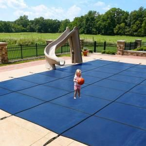 Blue Wave 20 ft. x 40 ft. Rectangular Blue In-Ground Pool Safety Cover BWS390B at The Home Depot - Mobile