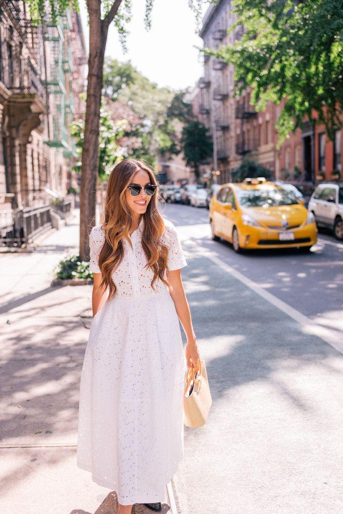 1c52ce5c77b Robe fluide habillée robe légère été etre une femme bien habilleee style  chic blanche mi longue