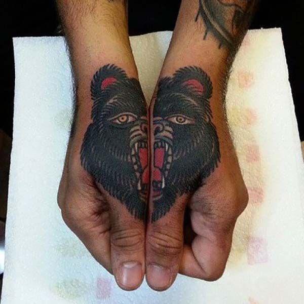 iki el ayı dövmesi