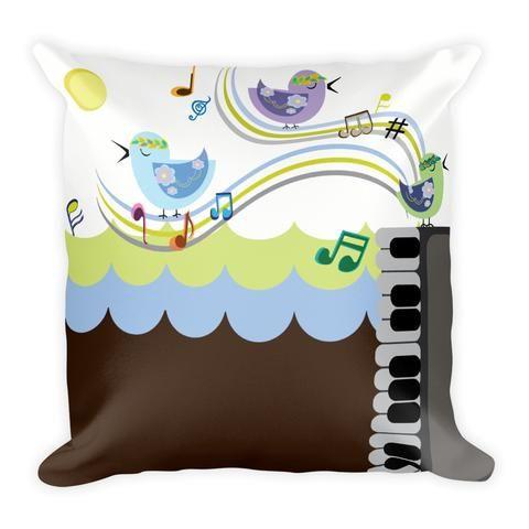 Birds Music Notes - Earthistik Pillow