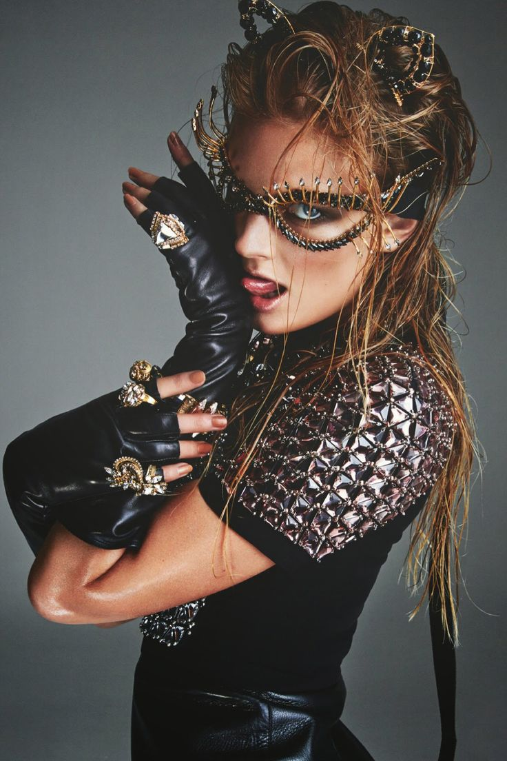 "blissfully-chic:  Constance Jablonski in ""Catwoman"" for Numéro #158, November 2014 Photographed by: Greg Kadel"