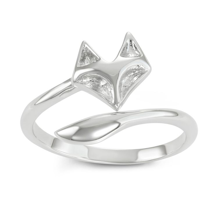 Women's Journee Collection Fox Tail Adjustable Ring in Sterling Silver - Silver