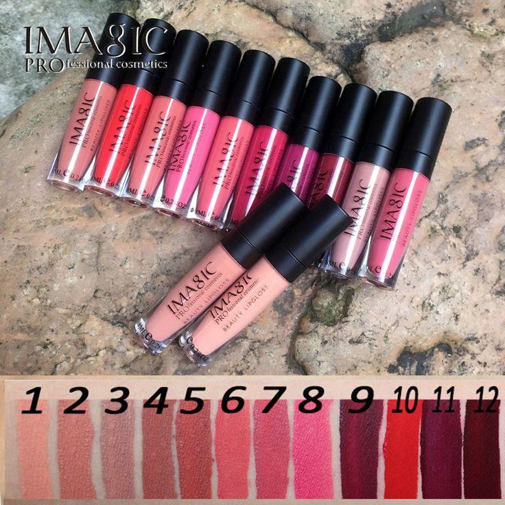 IMAGIC lip kit Rare Lip Paint matte lipstick Waterproof Strawberry Long Lasting Gloss FB lip gloss * Click the VISIT button to view the details