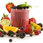 Smoothie with fruits