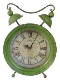 UH75024 Green Vintage Clock 33cm