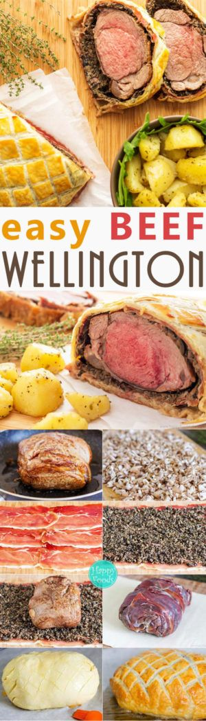 Easy Beef Wellington with Mushroom & Jamón - Fine Dining, Classical British Food, Home Cooking, Best Beef Wellington, Recipe | happyfoodstube.com