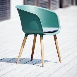 Stol VARMING plast/FSC-hardtre grønn