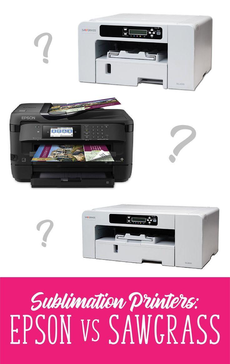 Epson Vs Sawgrass Sublimation Printer Comparisons Sublimation Printers Printer Sublime