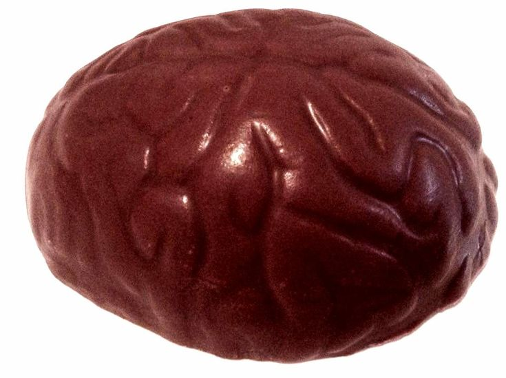 Chocolate Brain handmade to order using the finest Belgian chocolate Individually wrapped in cellophane Personalised labels available A fun novelty
