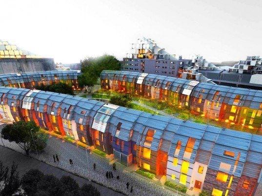 Urban regeneration project in Nottingham, England.