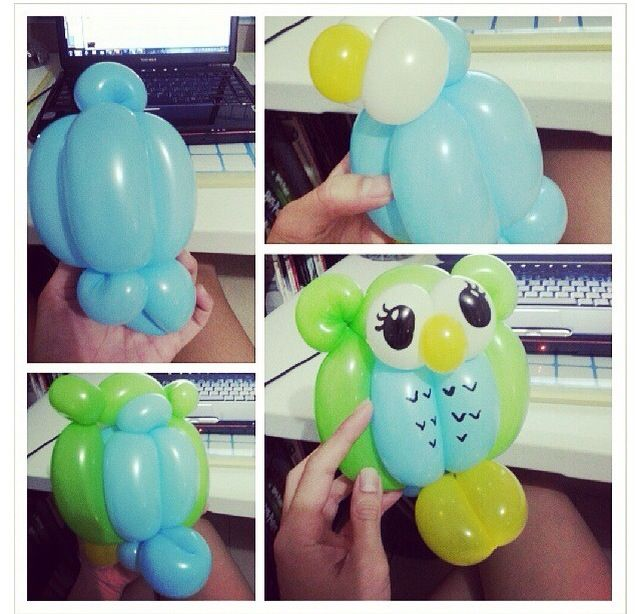 25 best ideas about owl balloons on pinterest owl baby for Balloon decoration instructions