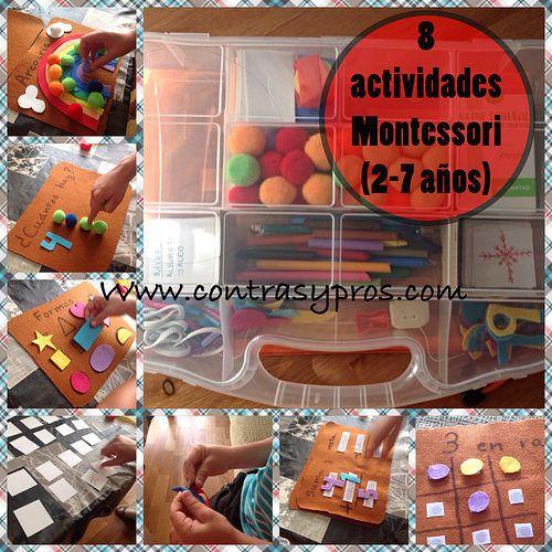 8 actividades Montessori para niños entre 2 y 7 años. #Kids