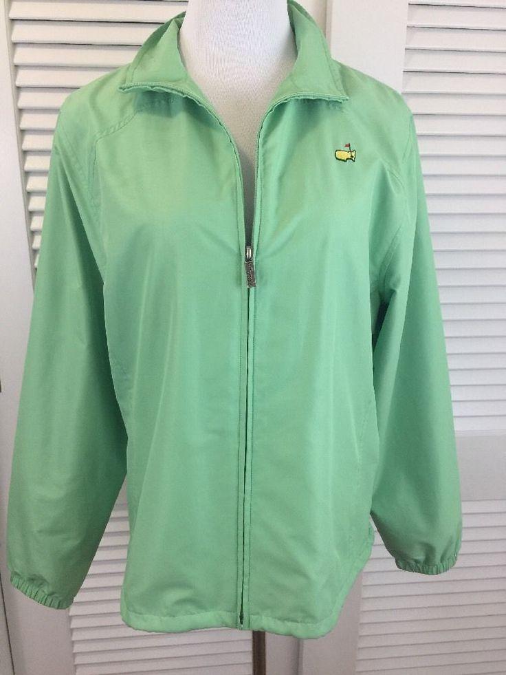 Masters Augusta National Golf Jacket Women's  L  Magnolia Lane Green Windbreaker  | eBay