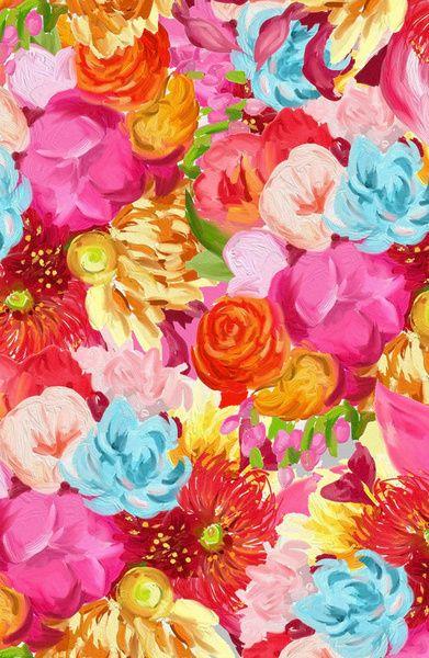 handpainted flower pattern Art Print by frameless | Society6