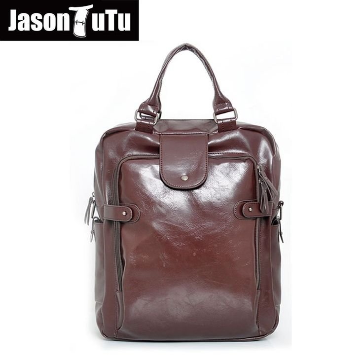 37.39$  Buy here - JASON TUTU Brand leather backpack Multifunction travel back pack 14/15 inches laptop backpack mochila B408   #magazineonline