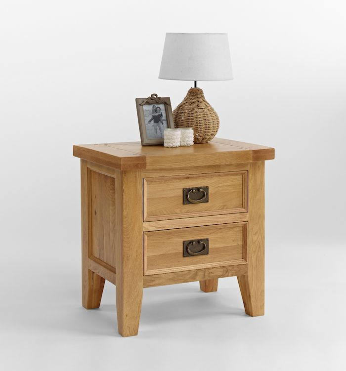 Elegance Oak 2 Drawer Lamp Table which can be used in any room of the home, ideal for the lounge or anywhere that a lamp is required.
