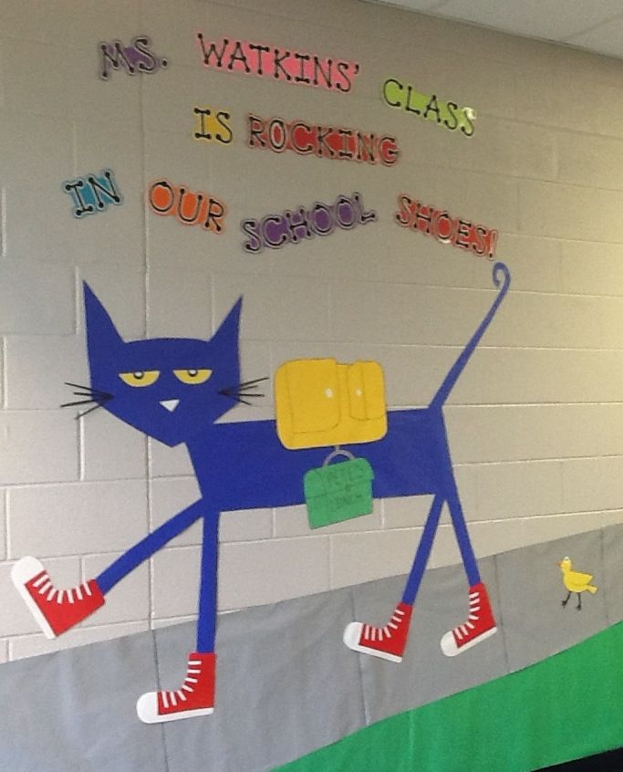 Pete the Cat - Rocking in his school shoes! Beginning of the school year, 2013.