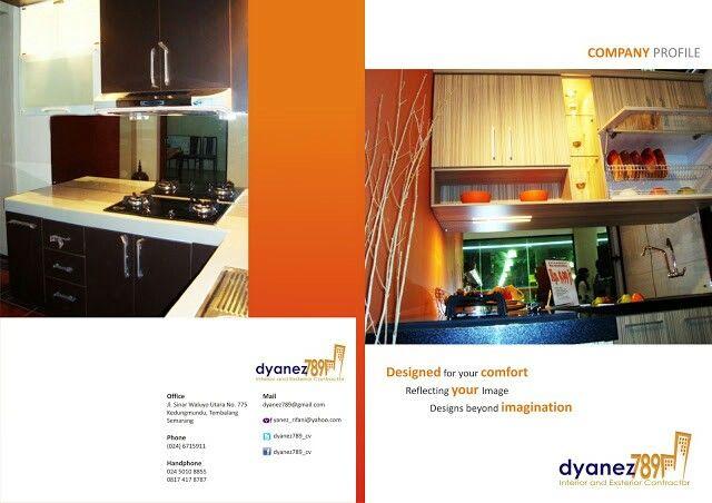 Desain Booklet Company Profile Perusahaan Interior Designer Oleh Tata Warna