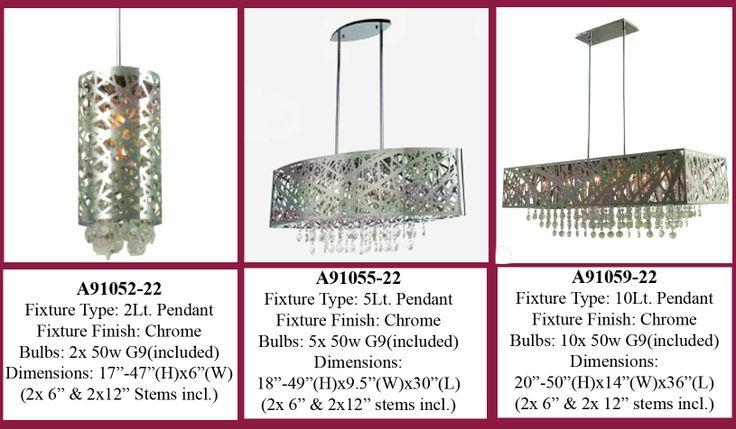 MIA 9Lt Pendant in Polished Chrome with Crystal Bead inserts - 19 -48  H x 19  W | Avista Lighting | Pinterest | Pendants Crystals and Polished chrome  sc 1 st  Pinterest & MIA 9Lt Pendant in Polished Chrome with Crystal Bead inserts - 19 ... azcodes.com