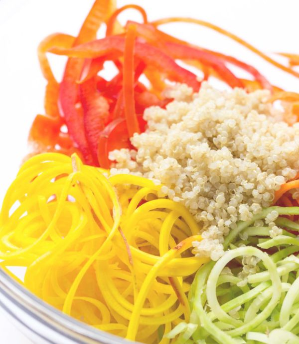 The more color you have in your Dash Diet Rainbow Salad the more health benefits you have. Totally feel free to change it up or mix and match your favorite veggies. This Dash Diet Rainbow Salad is super customizable Here's my rainbow saladcolor scheme: red bell peppers carrot yellow beet broccoli stems Ingredients  1 …