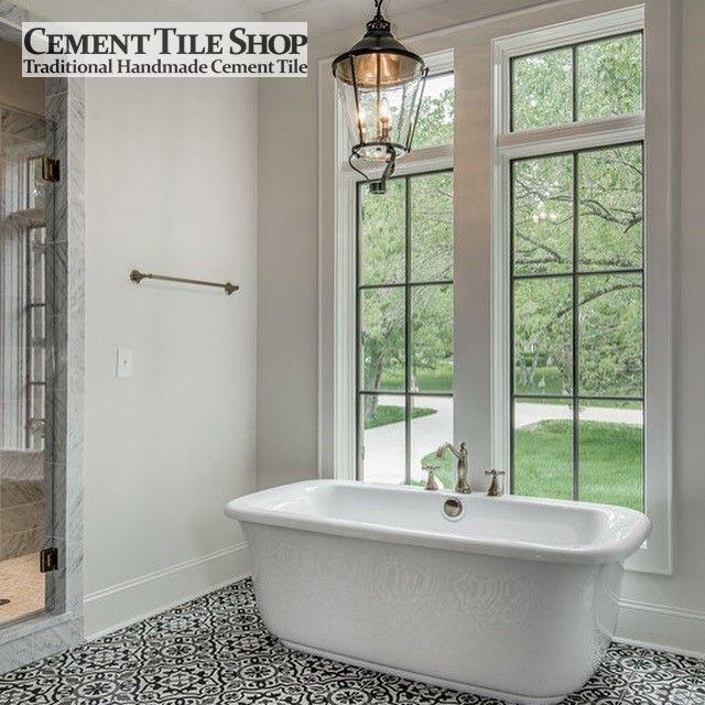 Cement Tile Shop   Handmade Cement Tile | Amalia Black. Photo By Vintage  South Development