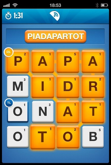 """Do you think that """"Piadapartot"""" is possible on Ruzzle? :D"""