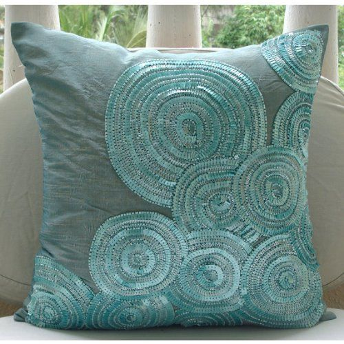 Luxury Blue Cushion Covers, Spiral Sequins and Beaded Pil... https://www.amazon.com/dp/B00K4KVN2K/ref=cm_sw_r_pi_dp_x_WAj5ybBA9THQ3