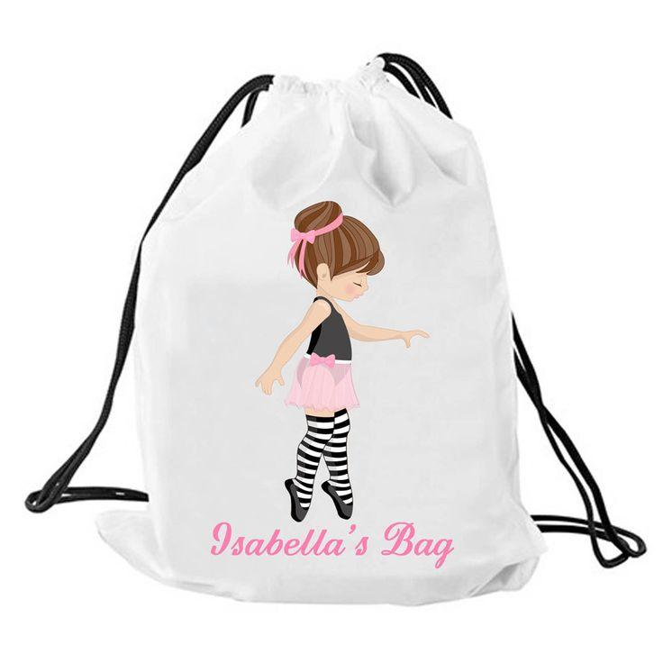 Personalized Ballet bag, Personalised drawstring bag, dance bag, swimming bag…
