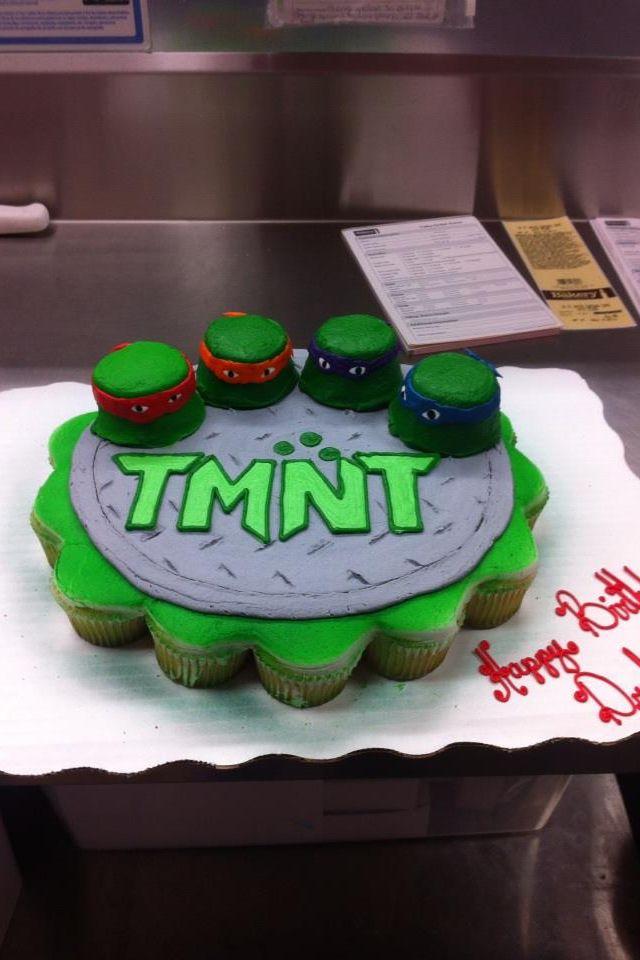 Cupcakes Tmnt Birthday Parties Ninjas Turtles Cupcakes Cake Cake