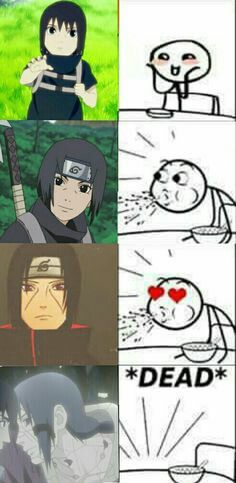 I really like the cereal guys reaction lol. Itachi is super cute though