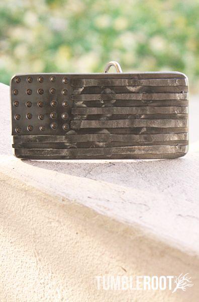 American flag belt buckle... subtly patriotic :-)