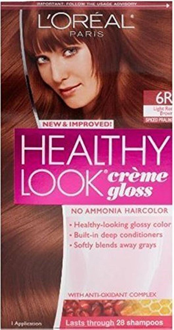 L'oreal Healthy Look Creme Gloss Hair Color 6r Red Brown (Pack of 6) - Brought to you by Avarsha.com