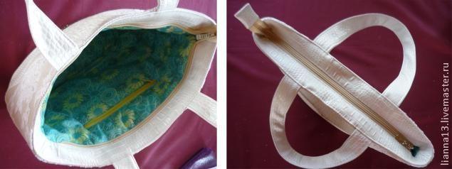 Ровно и аккуратно вшиваем молнию в сумку - Ярмарка Мастеров - ручная работа, handmade