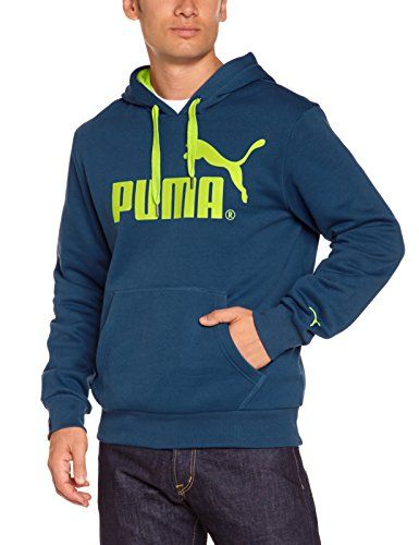 PUMA Herren Sweatshirt Logo Hooded Sweat Fleece, Majolica Blue, L, 823991 14