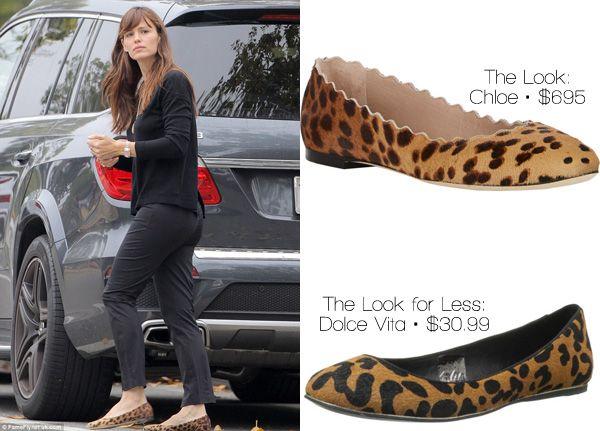 The Look for Less: Jennifer Garner's Leopard Ballet Flats - http://www.shopgirldaily.com/2015/05/the-look-for-less-jennifer-garners-leopard-ballet-flats/