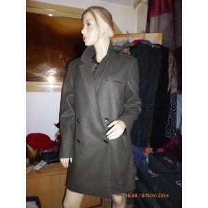 Sublime manteau Cop copine modèle GARIBALDI - collection automne/hiver 2014-2015 dispo en noir ou en vert army tailles 36, 38, 40 et 42