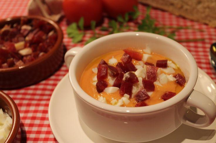 Salmorejo cordobés / Andalusian Tomato and Garlic Soup