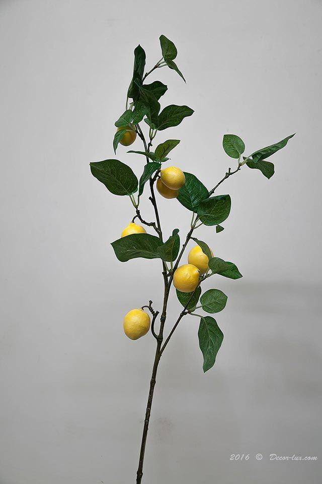 Ветка с плодами лимона, 100см.