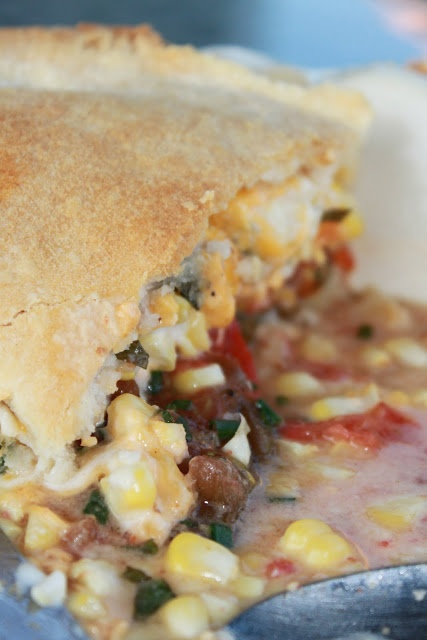 Tomato and Corn Pie | Foodstuffs | Pinterest